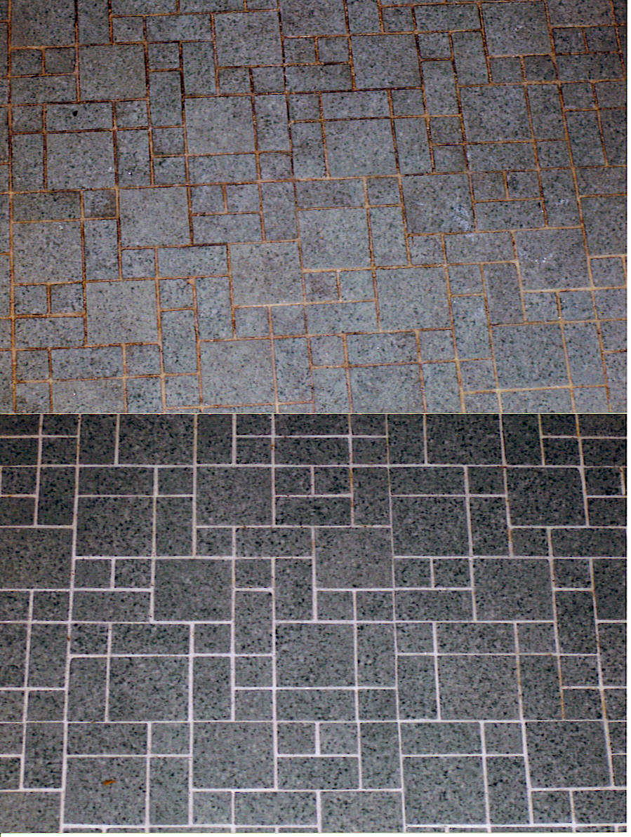 Old tile and grout